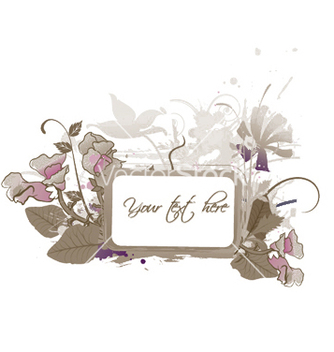 Free floral frame with splash vector - vector gratuit #248993