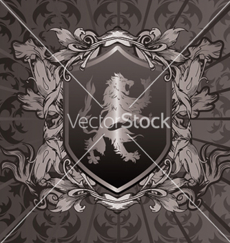 Free vintage emblem with shield vector - Kostenloses vector #249223