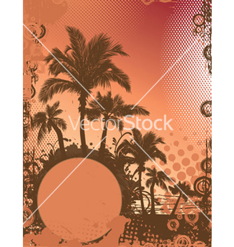 Free summer background with palm trees vector - бесплатный vector #249463