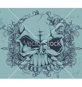 Free grunge floral and skull vector - Kostenloses vector #249483