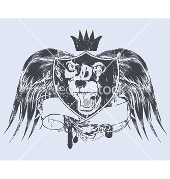 Free grunge tshirt design with shield vector - Kostenloses vector #249853