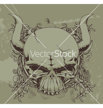 Free grunge floral and skull vector - Kostenloses vector #249873