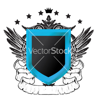 Free vintage crest with wings vector - Free vector #249943