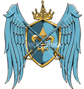 Free vintage crest with wings vector - Free vector #249983