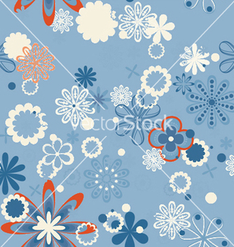 Free abstract seamless floral background vector - Free vector #250283