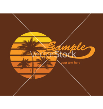 Free summer tshirt design with palm trees vector - бесплатный vector #250343