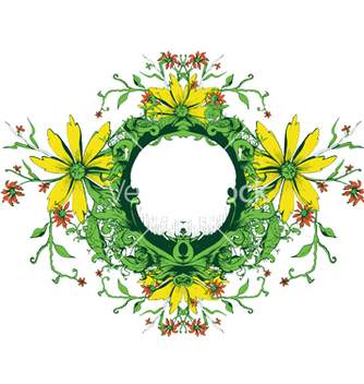 Free floral frame vector - Free vector #250363