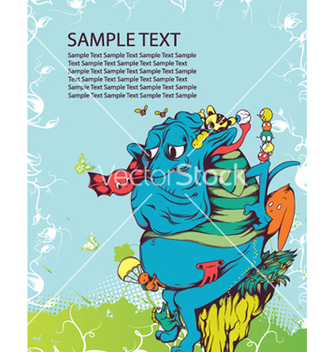 Free funny monsters vector - Free vector #250393