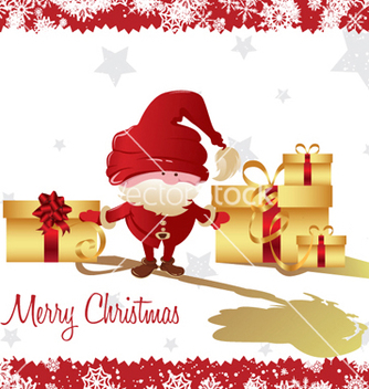 Free christmas greeting card vector - Kostenloses vector #250533