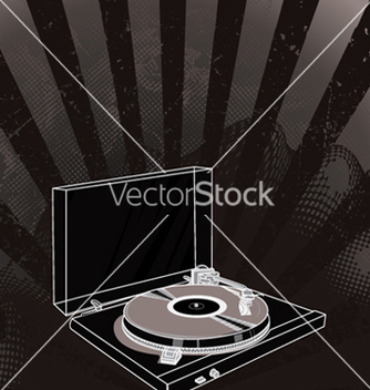 Free concert poster with turntable vector - Free vector #250543