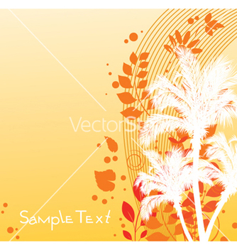 Free summer floral background vector - Free vector #250613