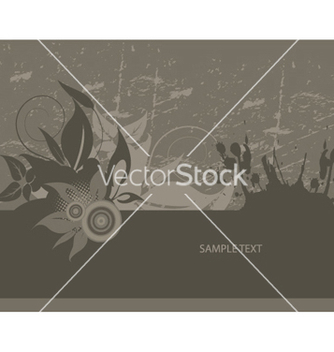 Free grunge wallpaper with floral vector - Kostenloses vector #250703