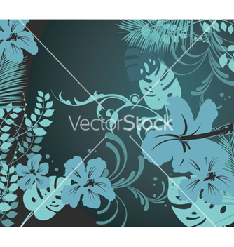 Free summer background with hibiscus vector - Free vector #250903
