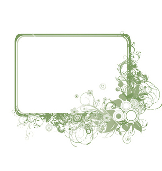 Free abstract floral frame vector - Free vector #251153