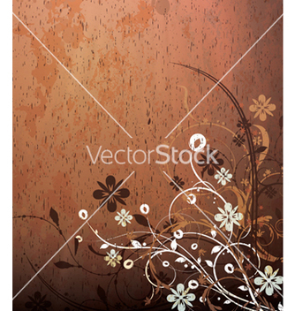 Free grunge background with floral vector - бесплатный vector #251173