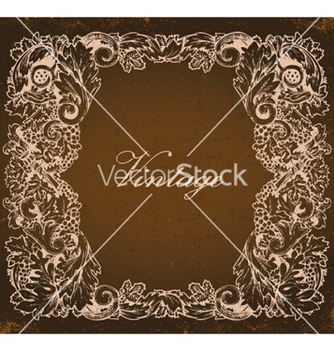 Free grunge baroque floral frame vector - vector gratuit #251273