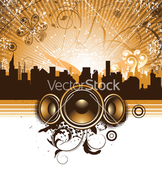 Free concert poster with speakers vector - Free vector #251423