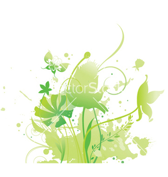 Free grunge floral vector - Free vector #251563