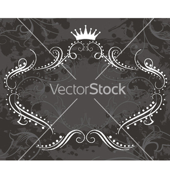 Free vintage floral frame with grunge background vector - vector gratuit #251613