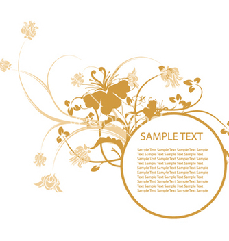 Free floral frame vector - Kostenloses vector #251743