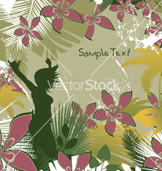 Free girl with floral vector - Kostenloses vector #251843