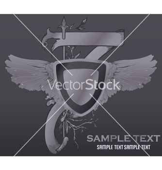 Free vintage emblem with shield vector - Kostenloses vector #251933