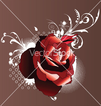 Free rose with halftone vector - бесплатный vector #251943