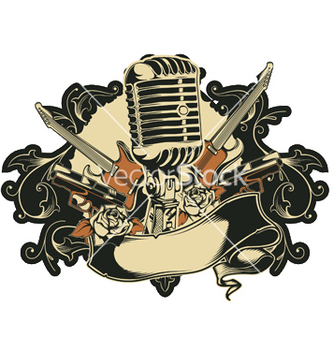 Free music emblem vector - Free vector #251993