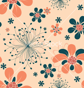 Free abstract seamless floral background vector - Kostenloses vector #252253