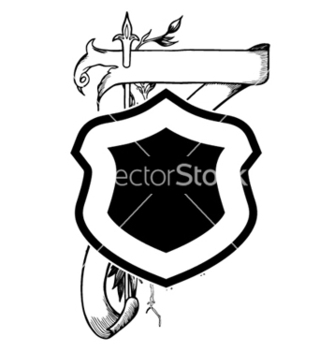 Free vintage emblem with shield vector - Kostenloses vector #252343