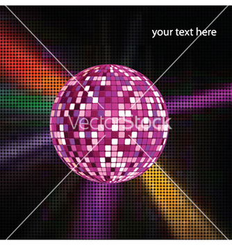 Free discoball with ray vector - vector gratuit #252393