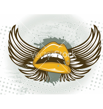 Free mouth with grunge vector - vector gratuit #252433