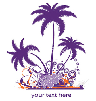 Free palm trees with grunge vector - Free vector #252603
