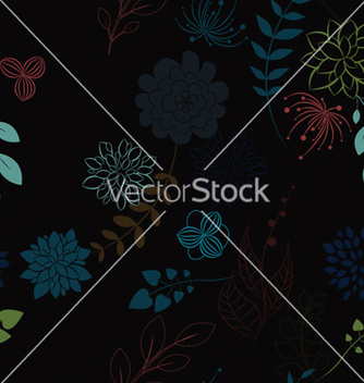 Free abstract seamless floral background vector - Kostenloses vector #252633