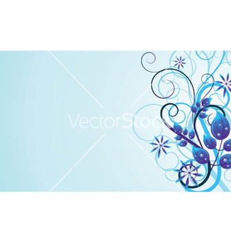 Free blue floral vector - Free vector #252673