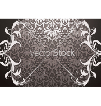 Free vintage damask floral background vector - Kostenloses vector #252723