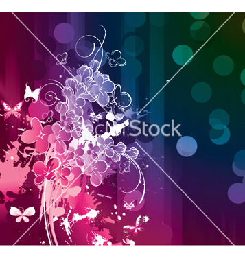 Free watercolor floral background vector - Free vector #252803