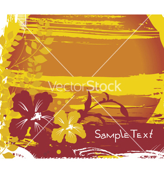 Free summer background with hibiscus vector - Free vector #252913