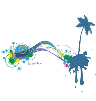 Free summer background with palm tree vector - бесплатный vector #253083