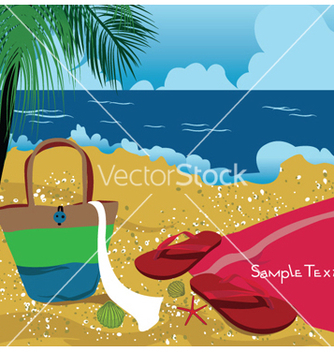 Free summer background with sea creatures vector - Kostenloses vector #253123