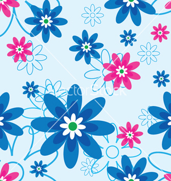 Free abstract seamless floral background vector - Kostenloses vector #253223
