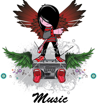 Free music emblem vector - Free vector #253353