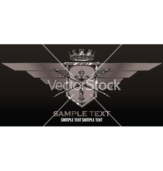 Free vintage crest with wings vector - Free vector #253423