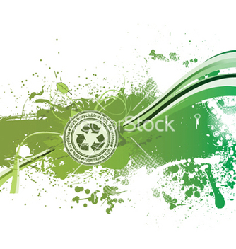 Free grunge green background with recycle stamp vector - vector gratuit #253483