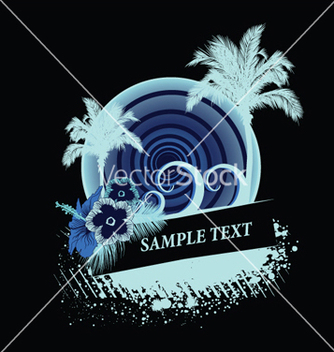 Free vintage summer background with palm trees vector - бесплатный vector #253543