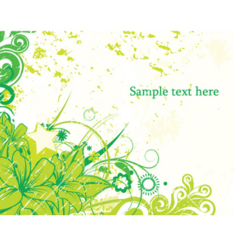 Free grunge floral background vector - vector gratuit #253623