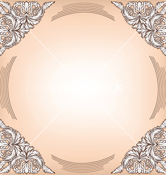 Free baroque floral frame vector - Free vector #253653