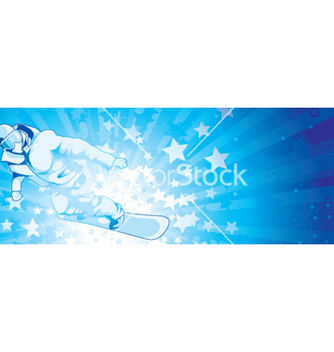 Free snowboarder with stars vector - Free vector #253813