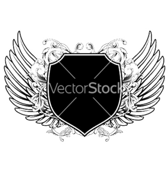 Free wings with shield vector - Kostenloses vector #253883