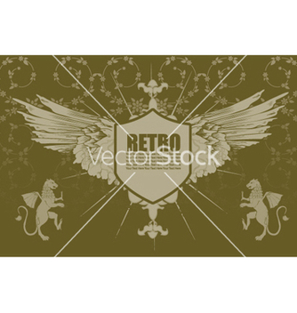 Free vintage emblem with floral background vector - Kostenloses vector #253943